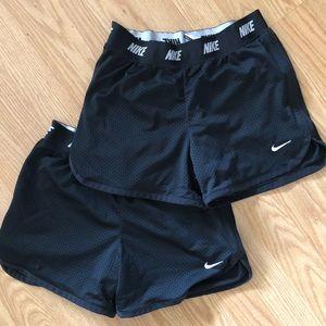 Girls- Dry Fit Nike Running Shorts (2)
